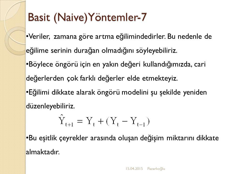 Basit (Naive)Yöntemler-7