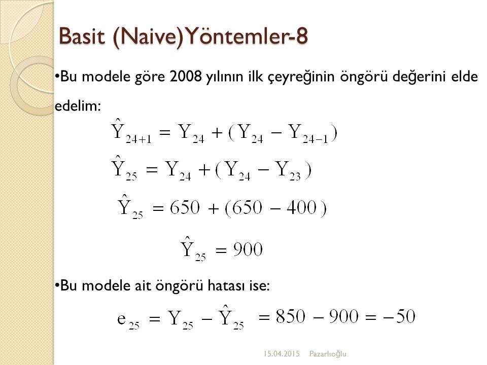 Basit (Naive)Yöntemler-8