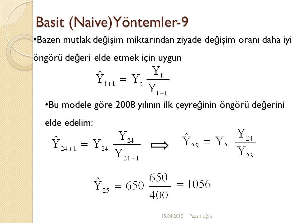 Basit (Naive)Yöntemler-9