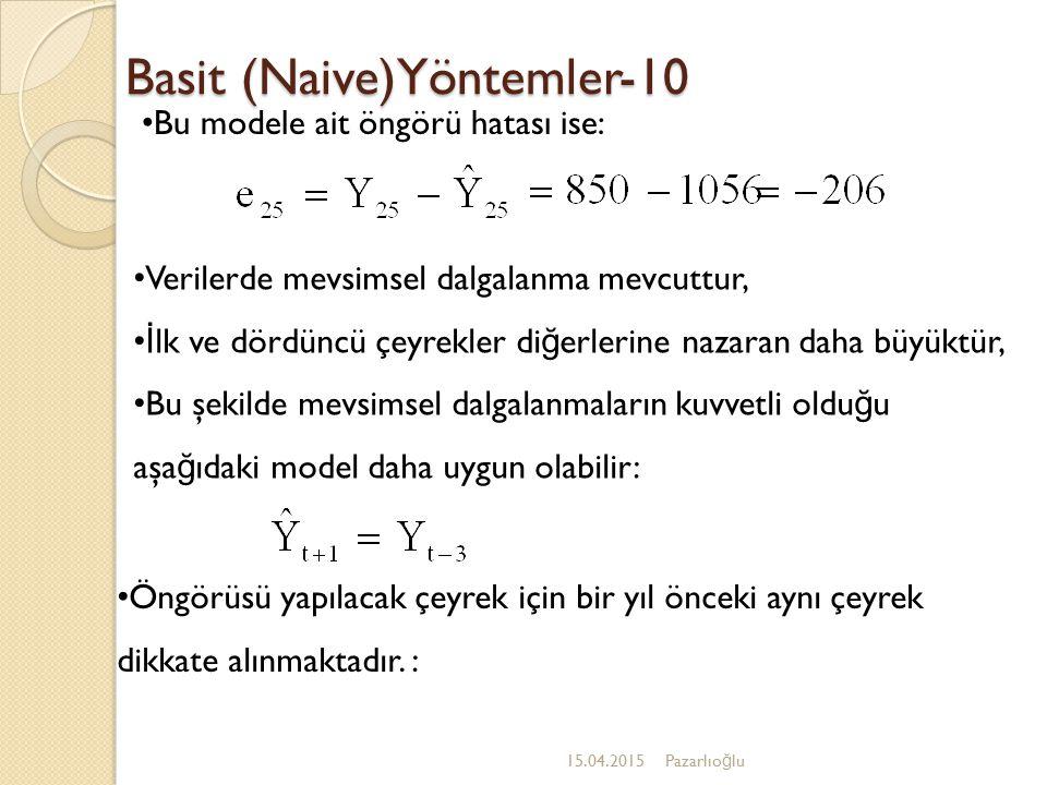 Basit (Naive)Yöntemler-10