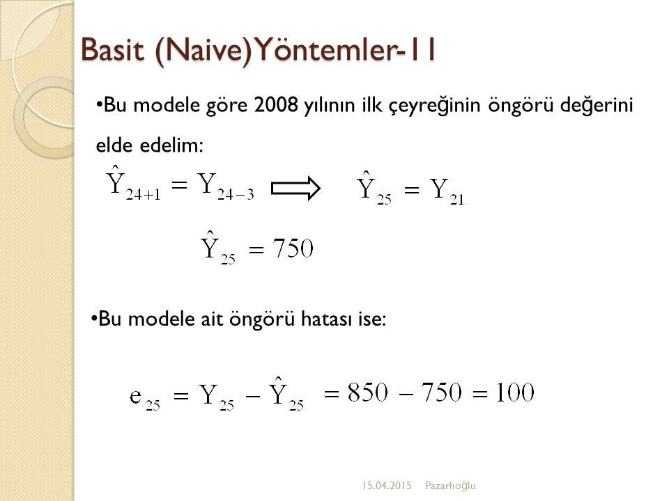 Basit (Naive)Yöntemler-11