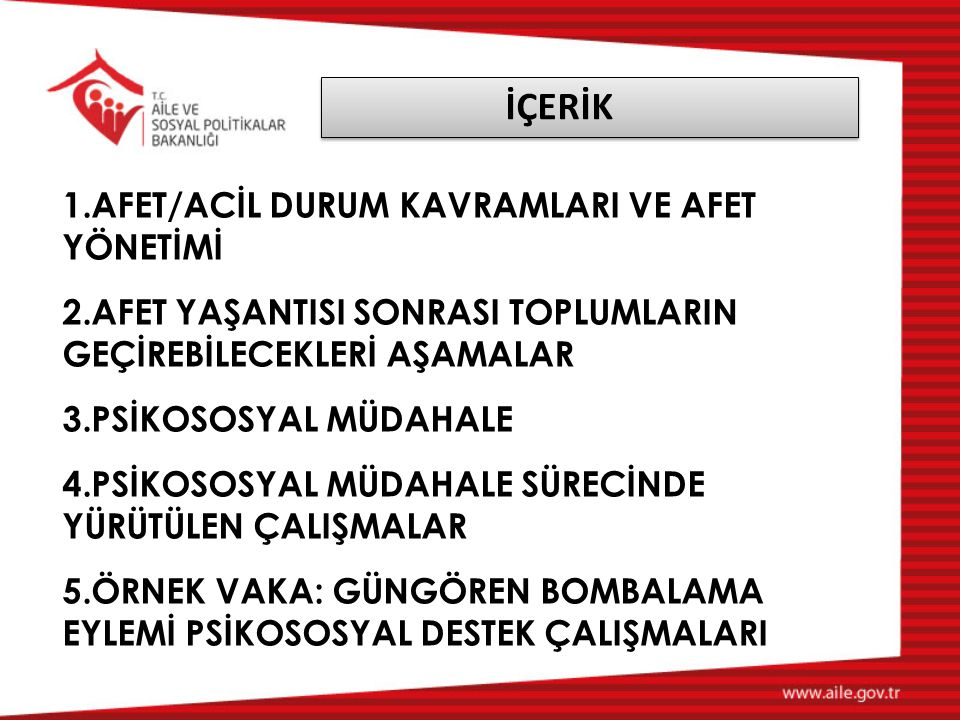 İÇERİK AFET/ACİL DURUM KAVRAMLARI VE AFET YÖNETİMİ