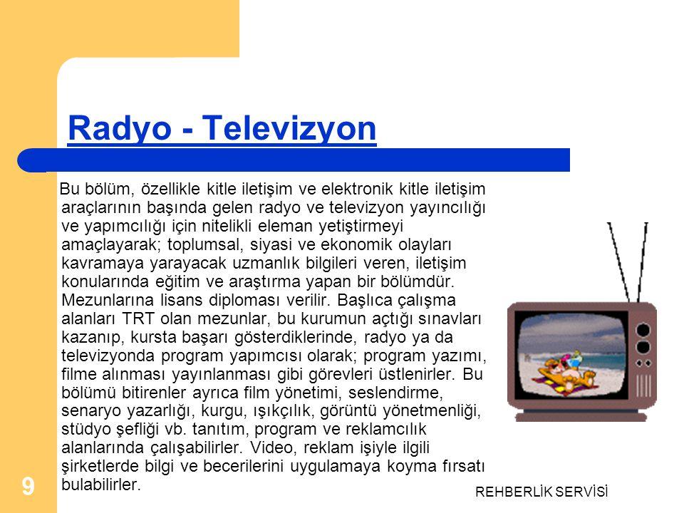 Radyo - Televizyon REHBERLİK SERVİSİ