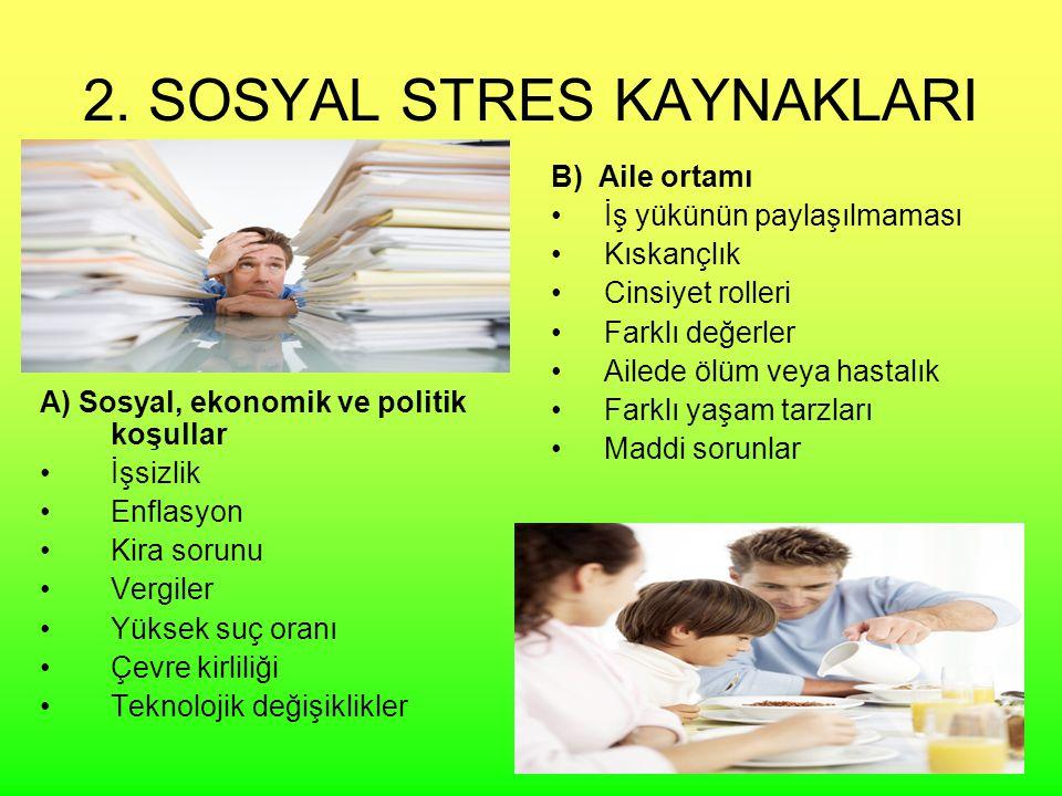 2. SOSYAL STRES KAYNAKLARI