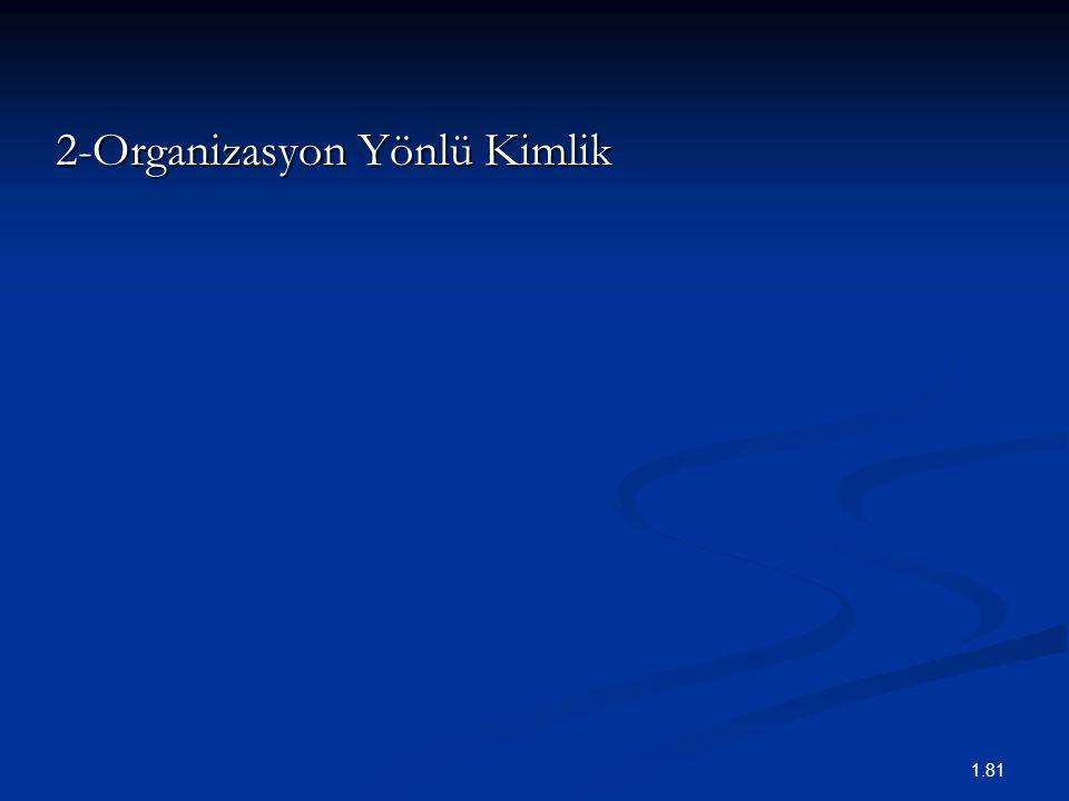 2-Organizasyon Yönlü Kimlik