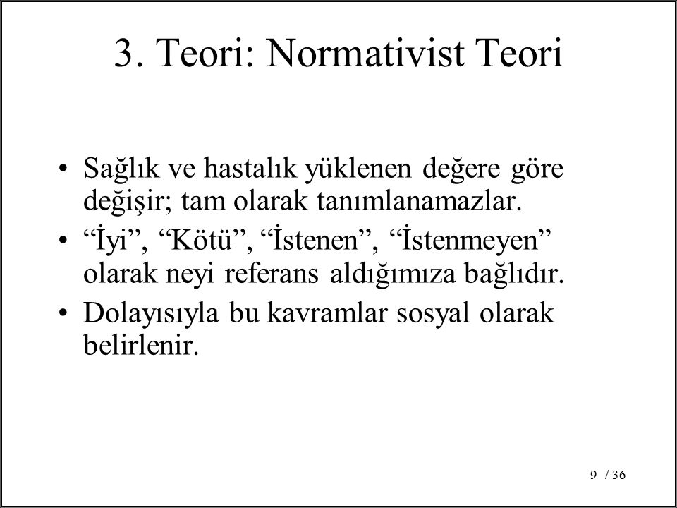 3. Teori: Normativist Teori