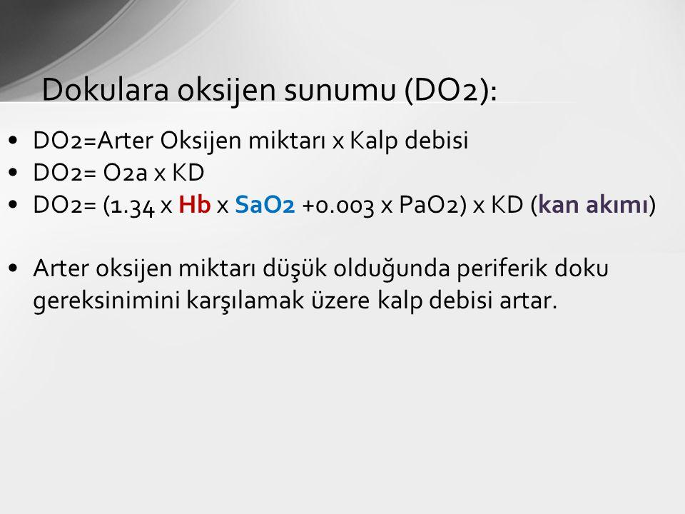 Dokulara oksijen sunumu (DO2):