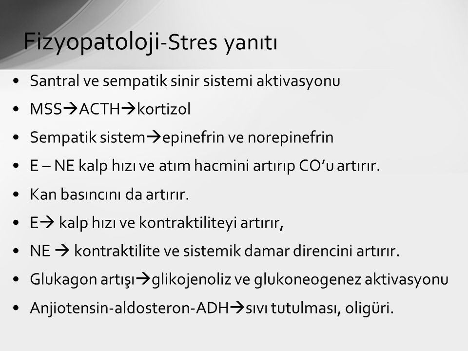 Fizyopatoloji-Stres yanıtı