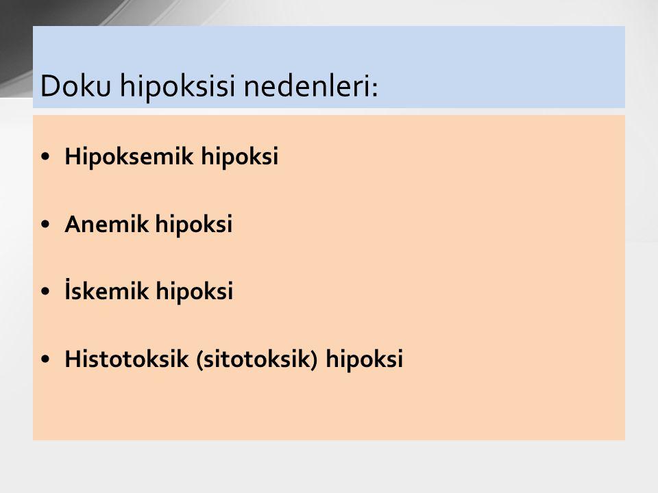 Doku hipoksisi nedenleri: