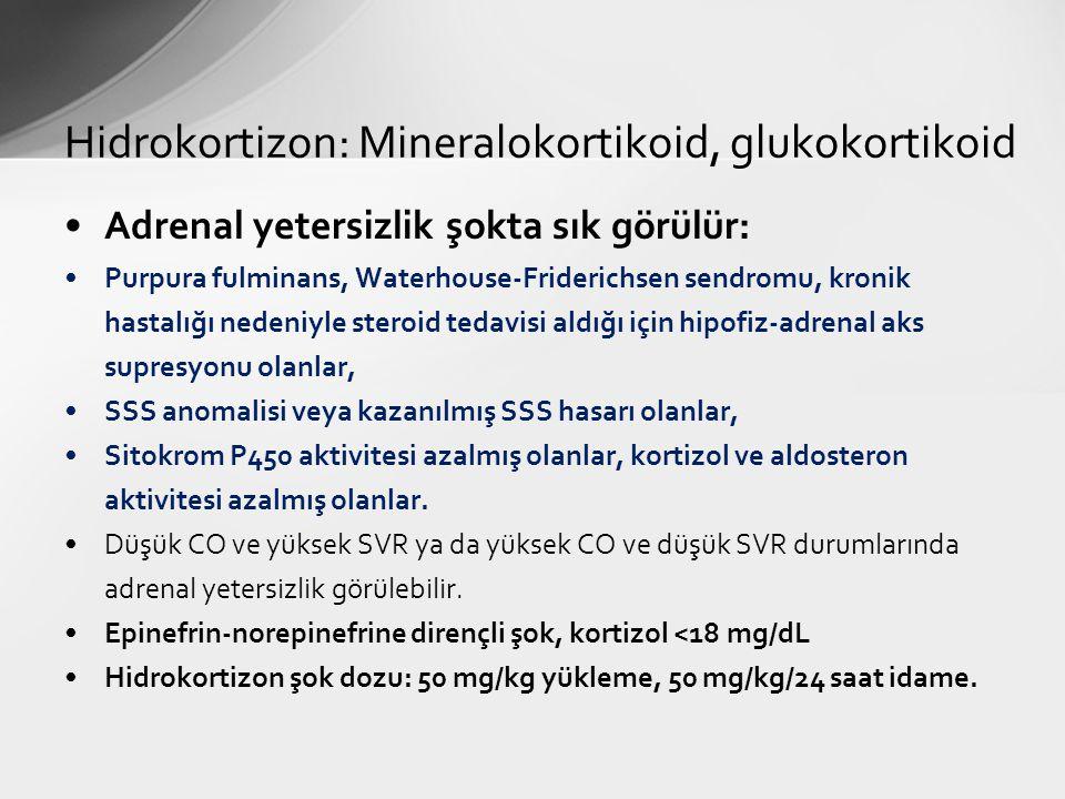 Hidrokortizon: Mineralokortikoid, glukokortikoid