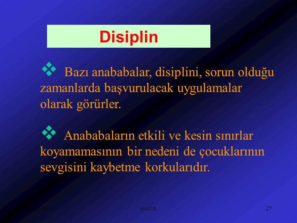 Disiplin Bazı anababalar, disiplini, sorun olduğu