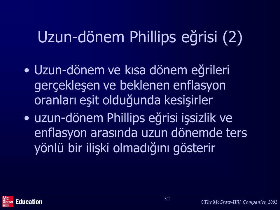 Uzun dönem Phillips eğrisi ve toplam talepte artış (1)