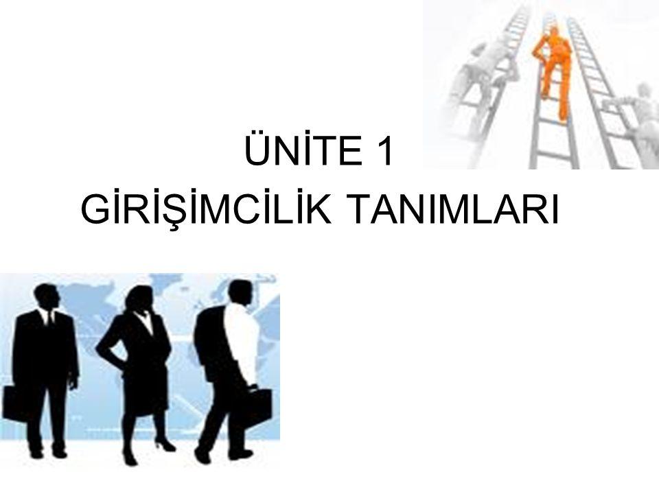 GİRİŞİMCİLİK TANIMLARI