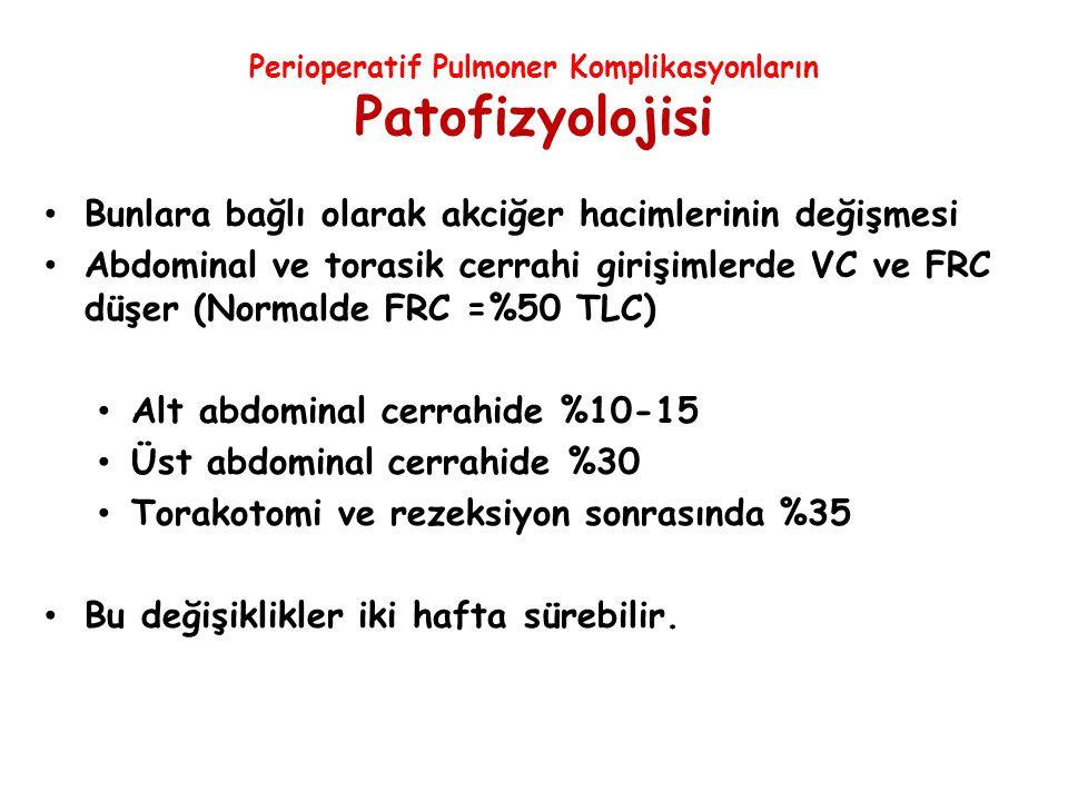 Perioperatif Pulmoner Komplikasyonların Patofizyolojisi