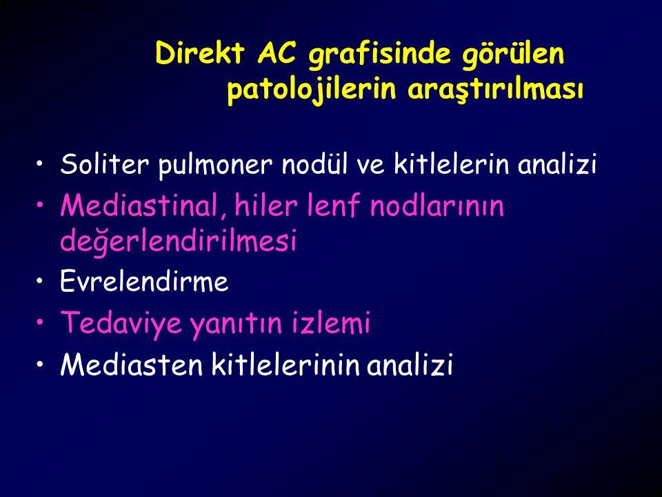 Direkt AC grafisinde görülen patolojilerin araştırılması