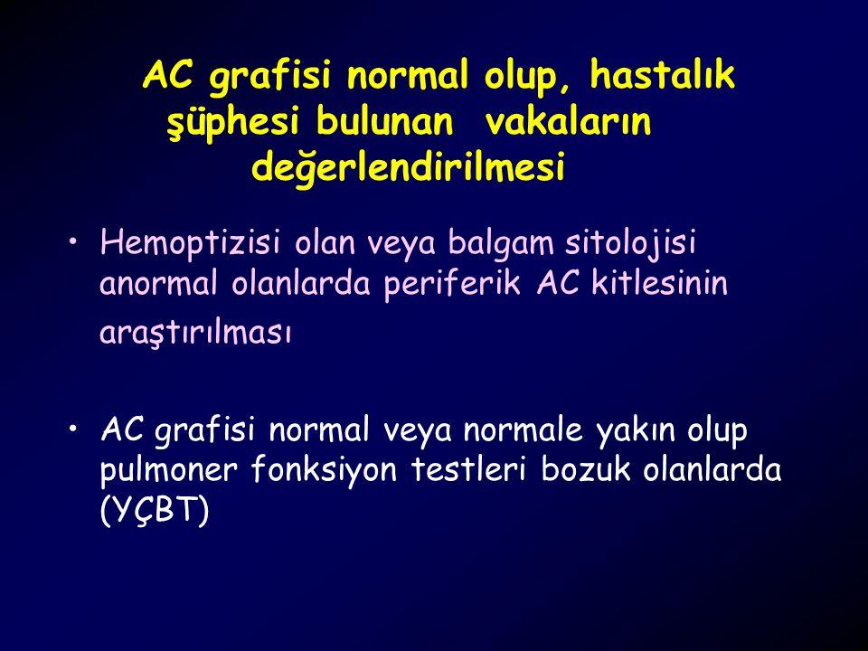 AC grafisi normal olup, hastalık şüphesi bulunan vakaların değerlendirilmesi
