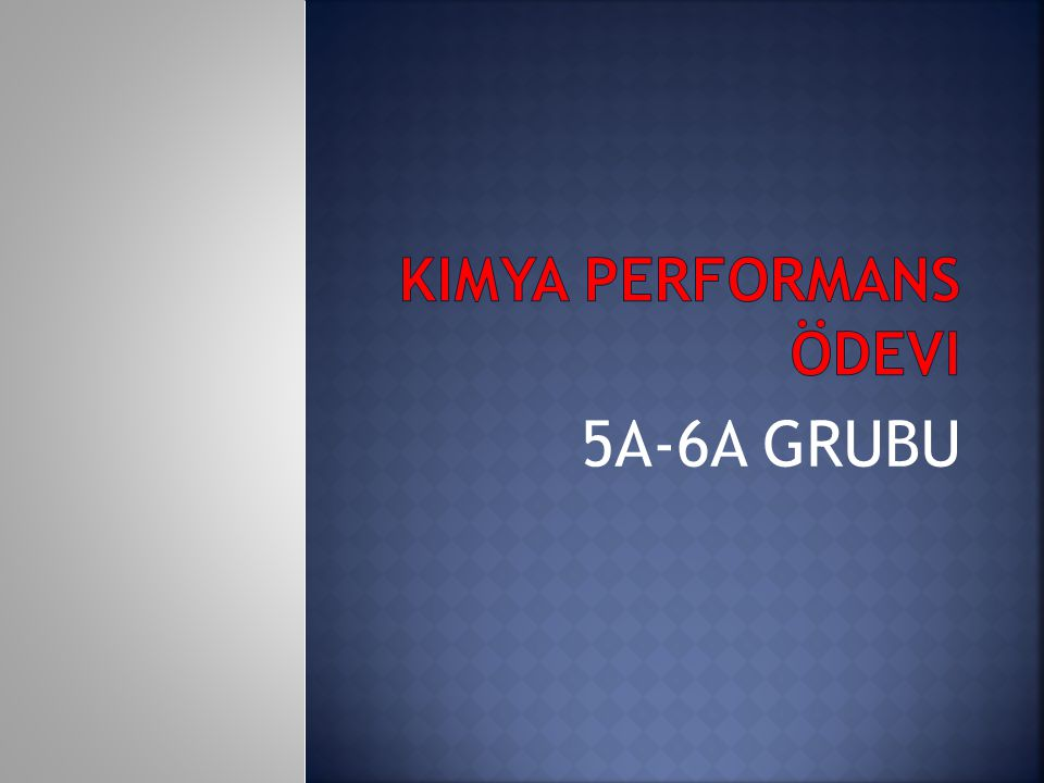 Kimya performans ödevi