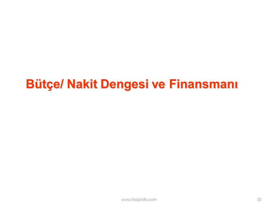 Bütçe/ Nakit Dengesi ve Finansmanı