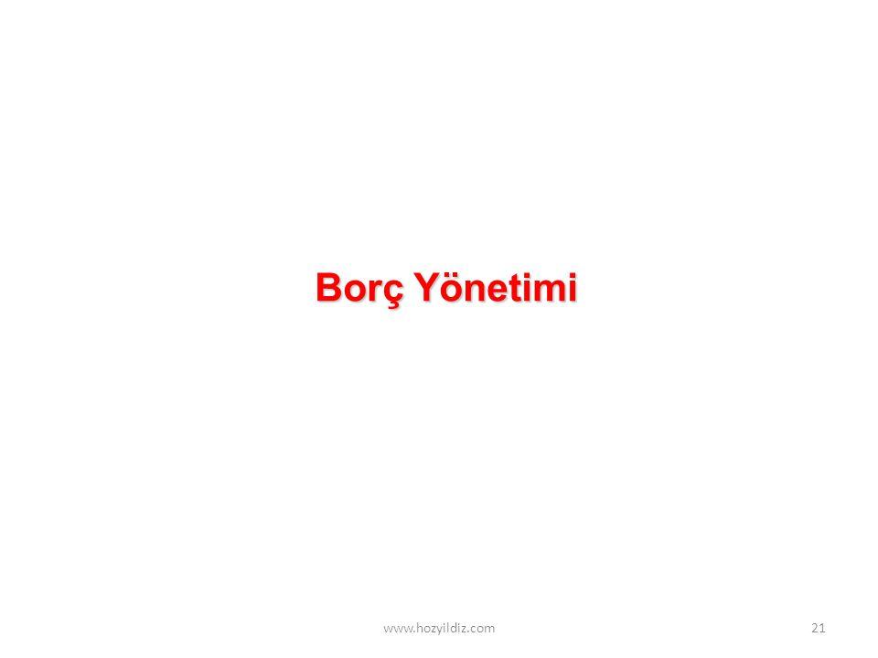 Borç Yönetimi www.hozyildiz.com