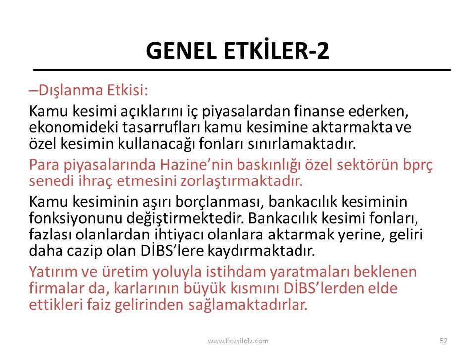 GENEL ETKİLER-2 Dışlanma Etkisi: