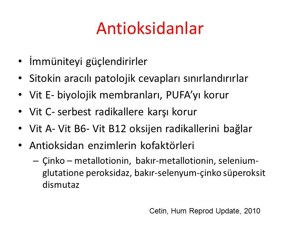 Antioksidanlar İmmüniteyi güçlendirirler