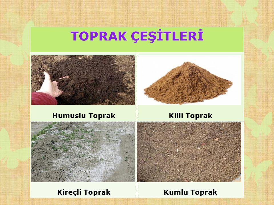 Toprak çeşitleri ve kullanım alanları