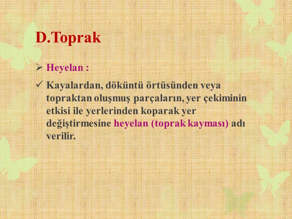 D.Toprak Heyelan :