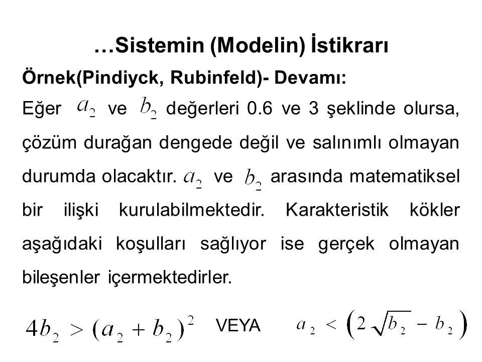 …Sistemin (Modelin) İstikrarı