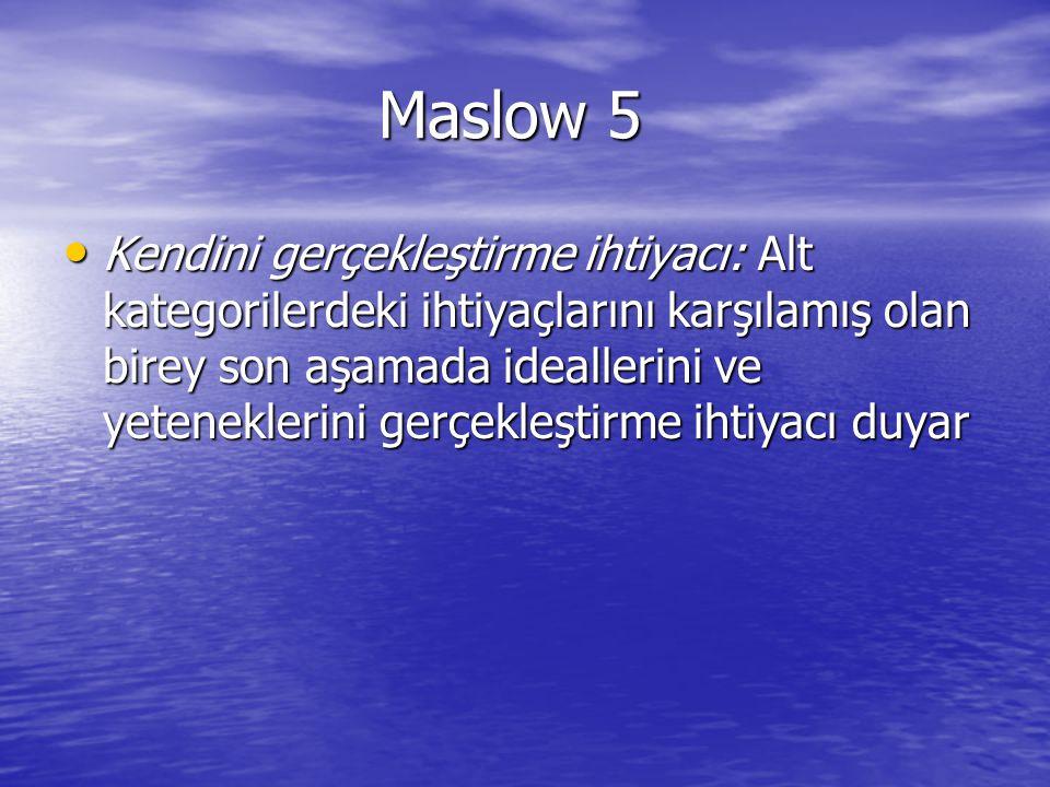 Maslow 5