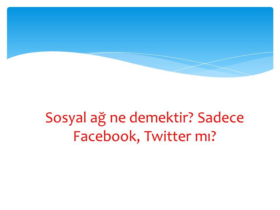Sosyal ağ ne demektir Sadece Facebook, Twitter mı