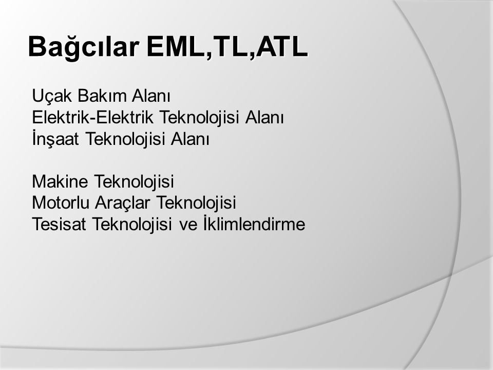 Bağcılar EML,TL,ATL