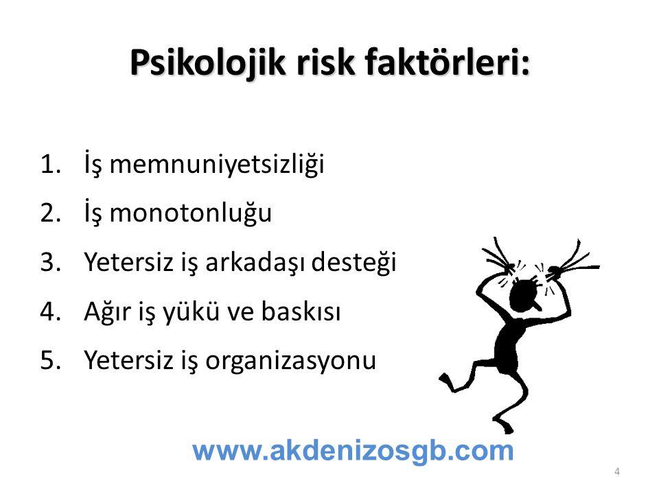 Psikolojik risk faktörleri: