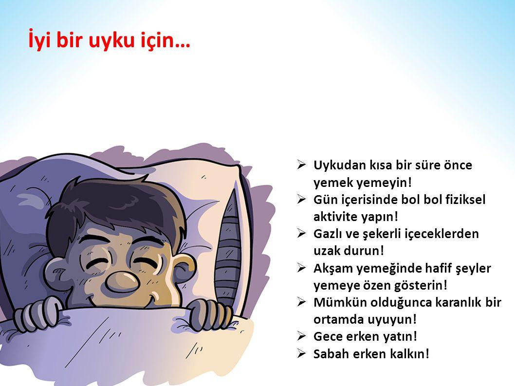 İyi bir uyku için… Uykudan kısa bir süre önce yemek yemeyin!
