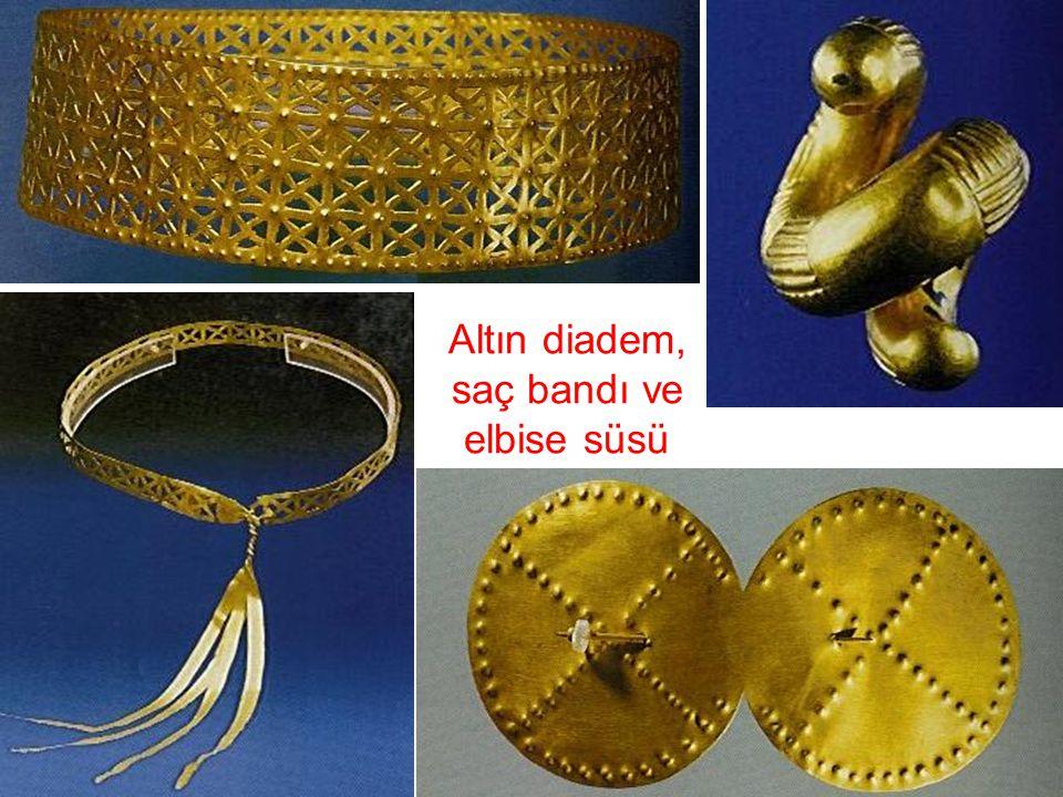 Altın diadem, saç bandı ve elbise süsü