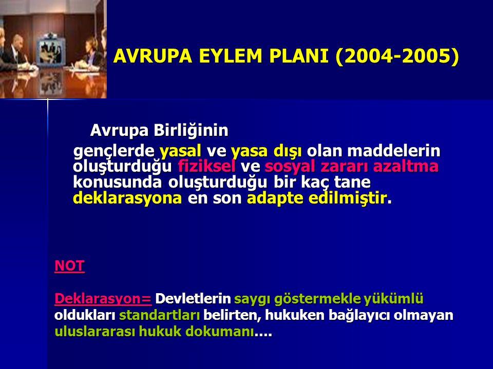 AVRUPA EYLEM PLANI (2004-2005) Avrupa Birliğinin