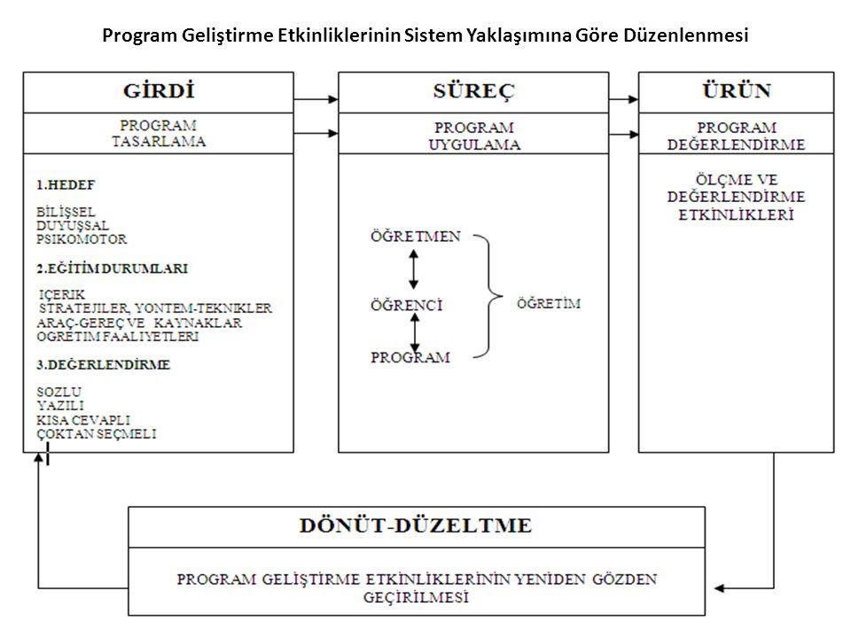 Program Geliştirme Etkinliklerinin Sistem Yaklaşımına Göre Düzenlenmesi