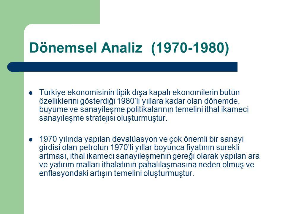 Dönemsel Analiz (1970-1980)