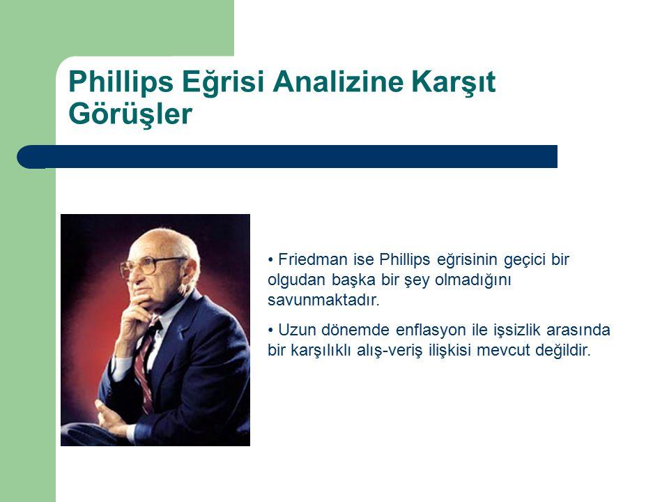 Phillips Eğrisi Analizine Karşıt Görüşler