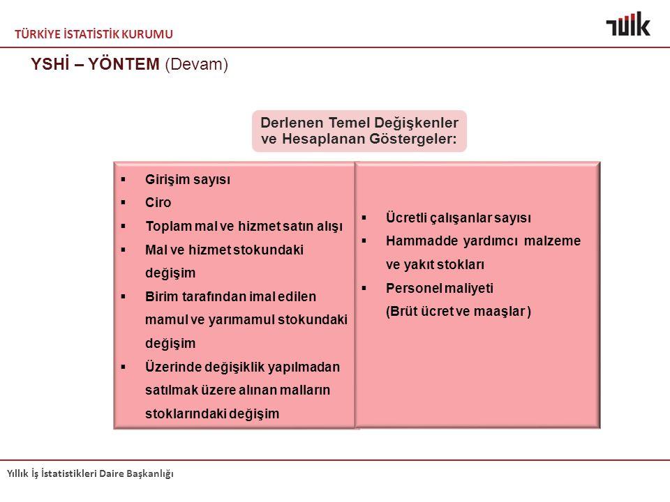 Derlenen Temel Değişkenler ve Hesaplanan Göstergeler: