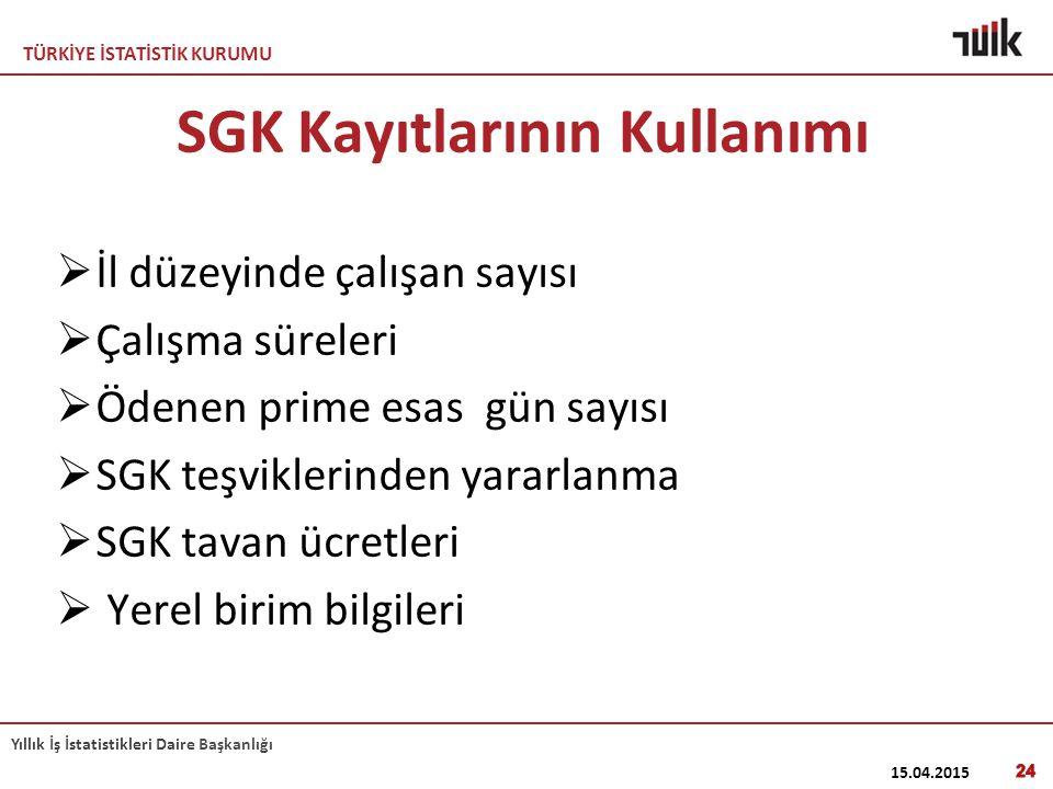 SGK Kayıtlarının Kullanımı