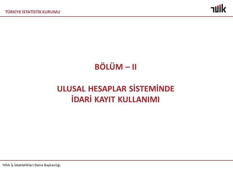 ULUSAL HESAPLAR SİSTEMİNDE