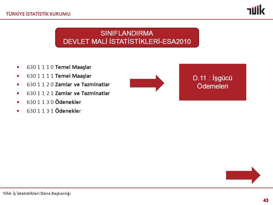 DEVLET MALİ İSTATİSTİKLERİ-ESA2010