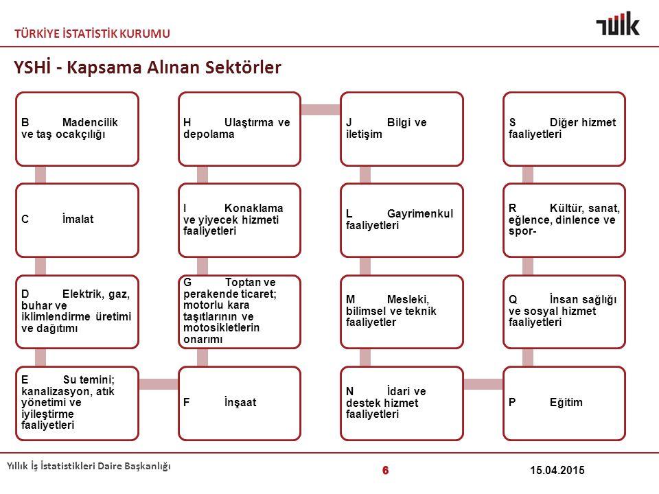 YSHİ - Kapsama Alınan Sektörler