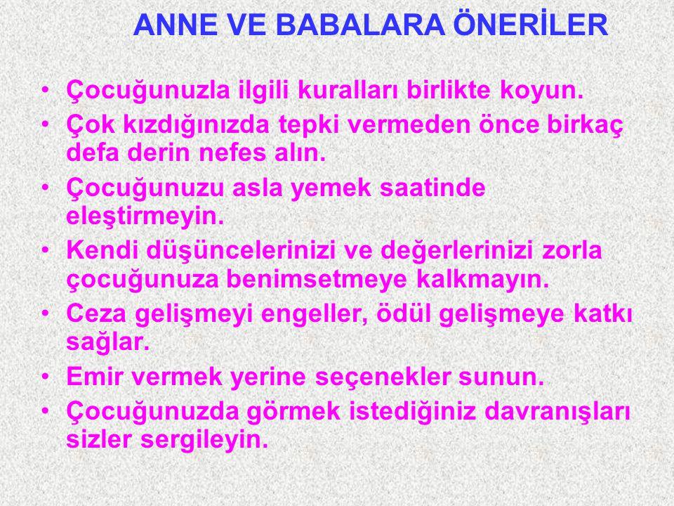 ANNE VE BABALARA ÖNERİLER
