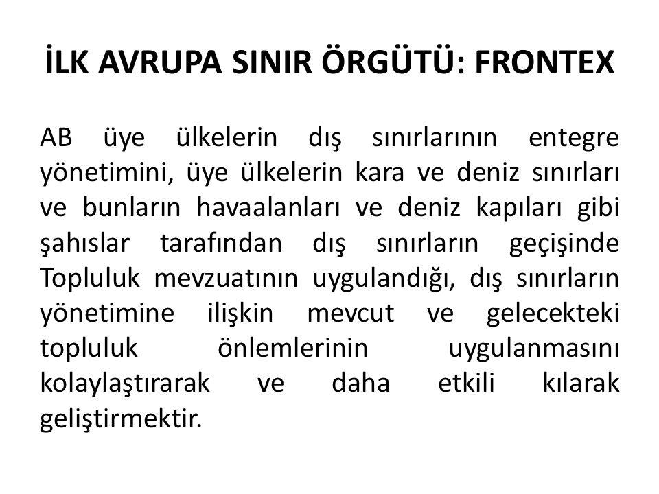 İLK AVRUPA SINIR ÖRGÜTÜ: FRONTEX