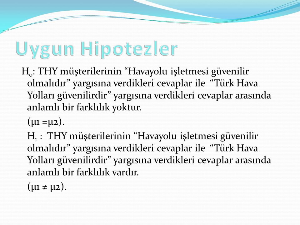Uygun Hipotezler