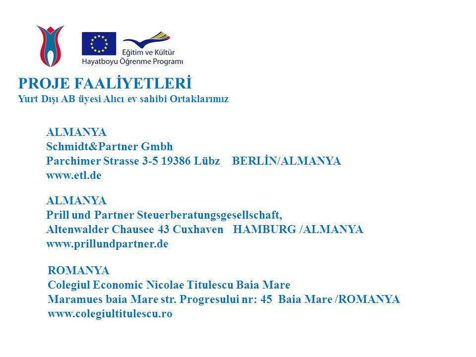PROJE FAALİYETLERİ ALMANYA Schmidt&Partner Gmbh