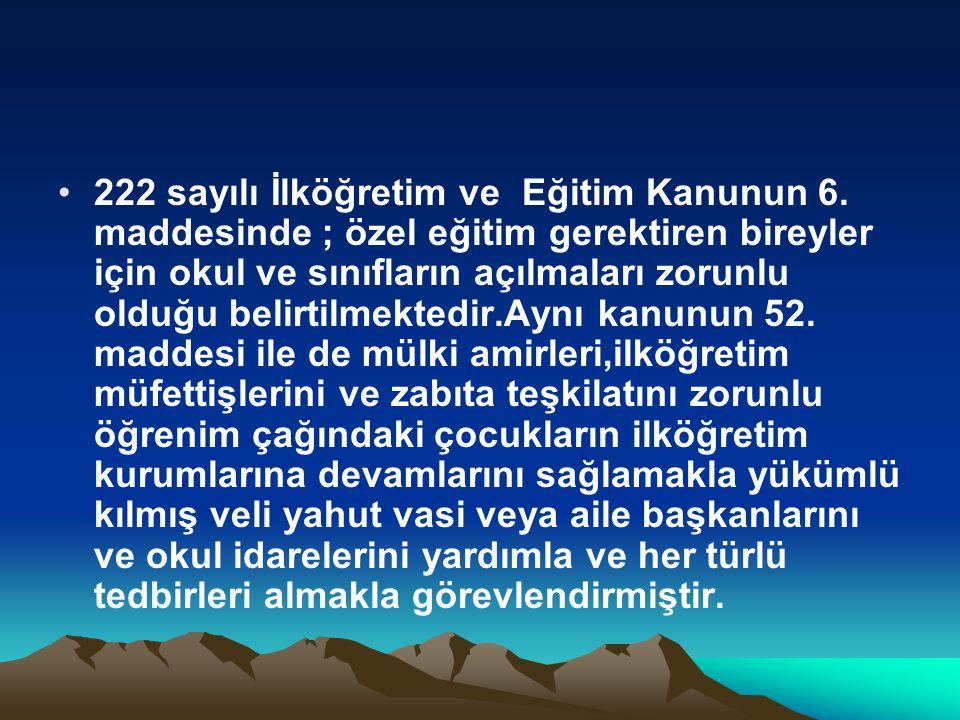 222 sayılı İlköğretim ve Eğitim Kanunun 6