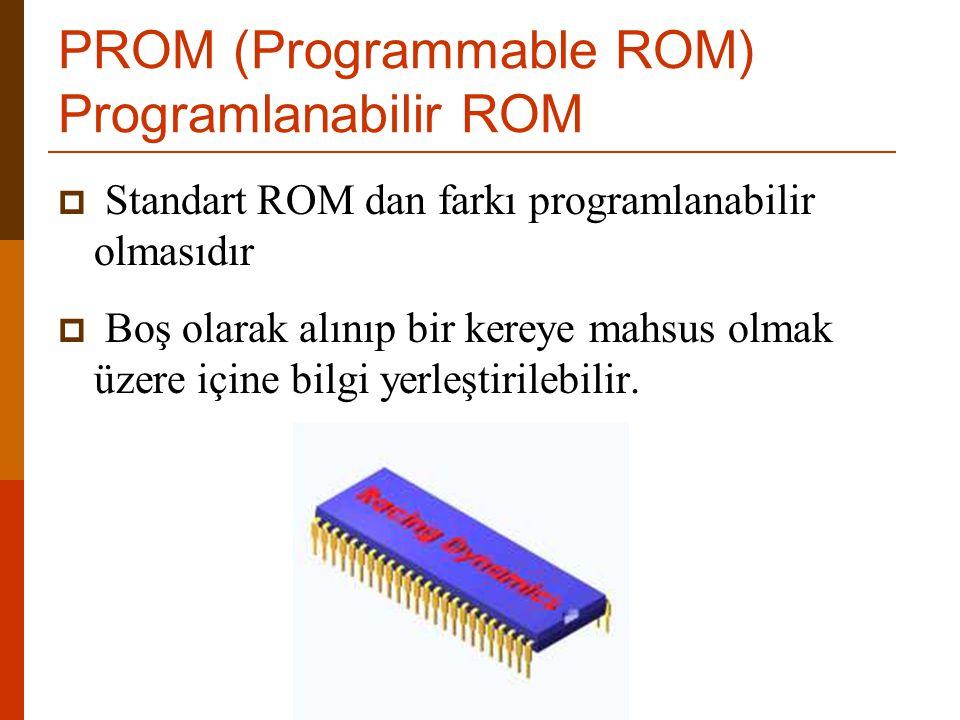 PROM (Programmable ROM) Programlanabilir ROM