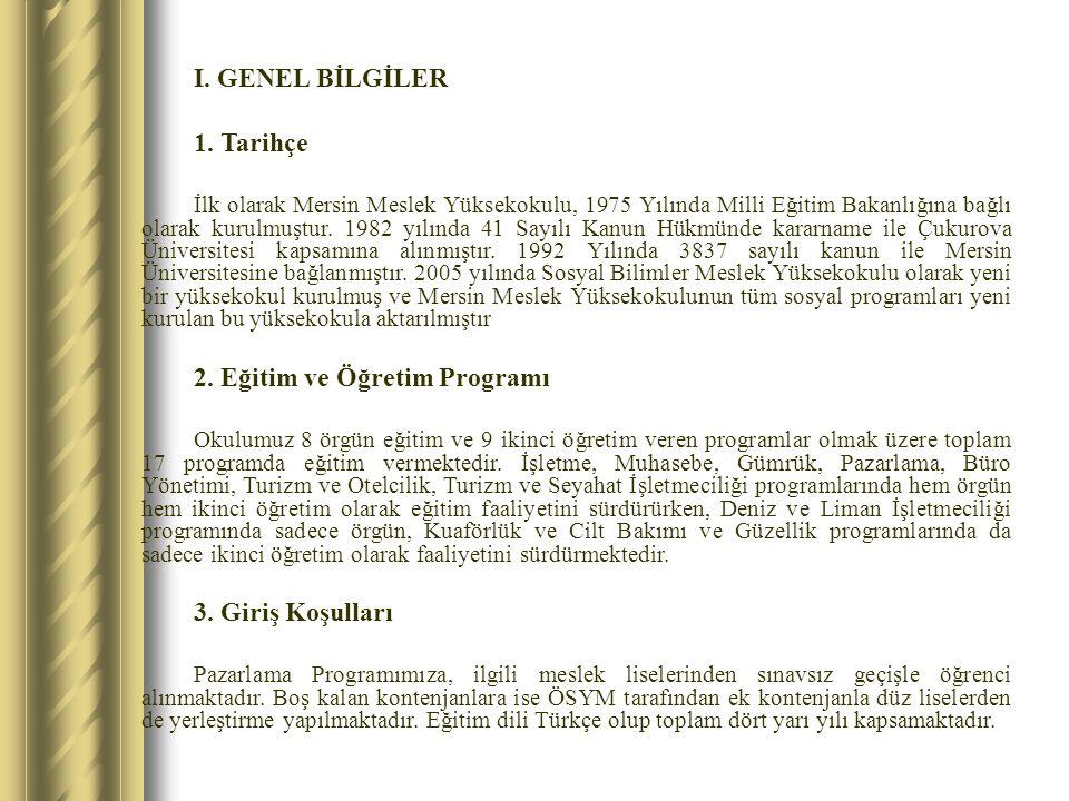 2. Eğitim ve Öğretim Programı